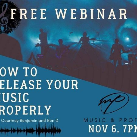 Webinar: How to Release Your Music Properly